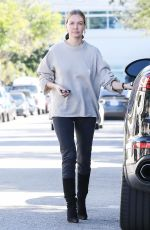 LARA BINGLE Shopping at Celine in Beverly Hills 01/23/2019