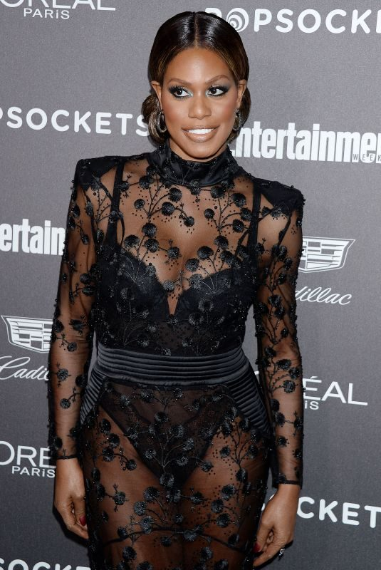 LAVERNE COX at Entertainment Weekly Pre-sag Party in Los Angeles 01/26/2019