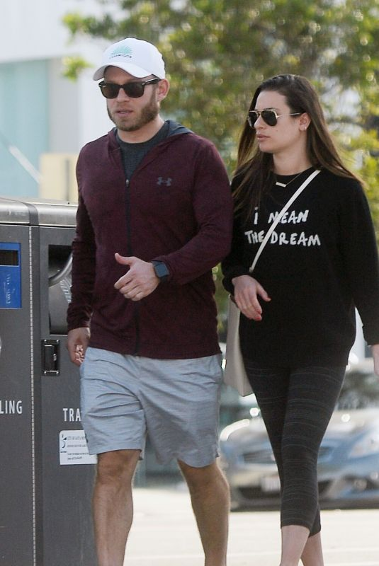 LEA MICHELE and Zandy Reich Out Shopping in Los Angeles 01/26/2019