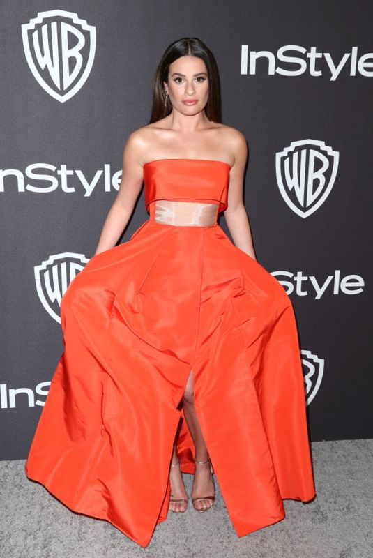 LEA MICHELE at Instyle and Warner Bros Golden Globe Awards Afterparty in Beverly Hills 01/06/2019