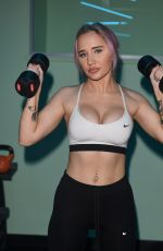 LEONIE MCSORLEY Workout at a New Fitness Space in Manchester 01/14/2019