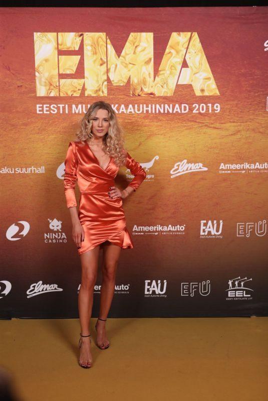 LIIS LEMSALU at Estonian Music Awards 2019 in Tallinn 01/24/2019