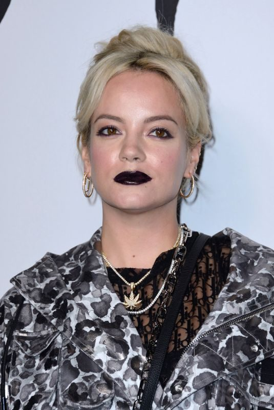 LILY ALLEN at Dior Homme Fashion Show at Paris Fashion Week 01/18/2019