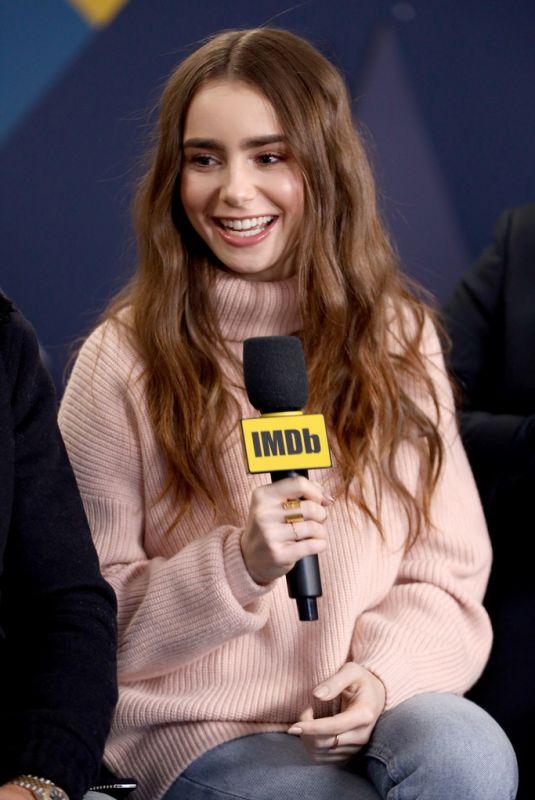 LILY COLLINS at Imdb Studio at 2019 Sundance Film Festival 01/26/2019