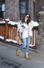 LILY COLLINS Out and About in Park City 01/26/2019