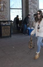 LILY COLLINS Out at 2019 Sundance Film Festival in Park City 01/26/2019