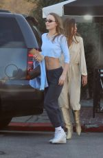 LILY-ROSE DEPP in Chort Crop Top Out in Los Angeles 01/27/2019