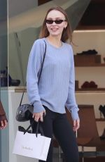 LILY-ROSE DEPP Out Shopping in West Hollywood 01/26/2019