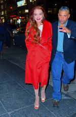 LINDSAY LOHAN Arrives at Magic Hour Rooftop Party in New York 01/07/2019