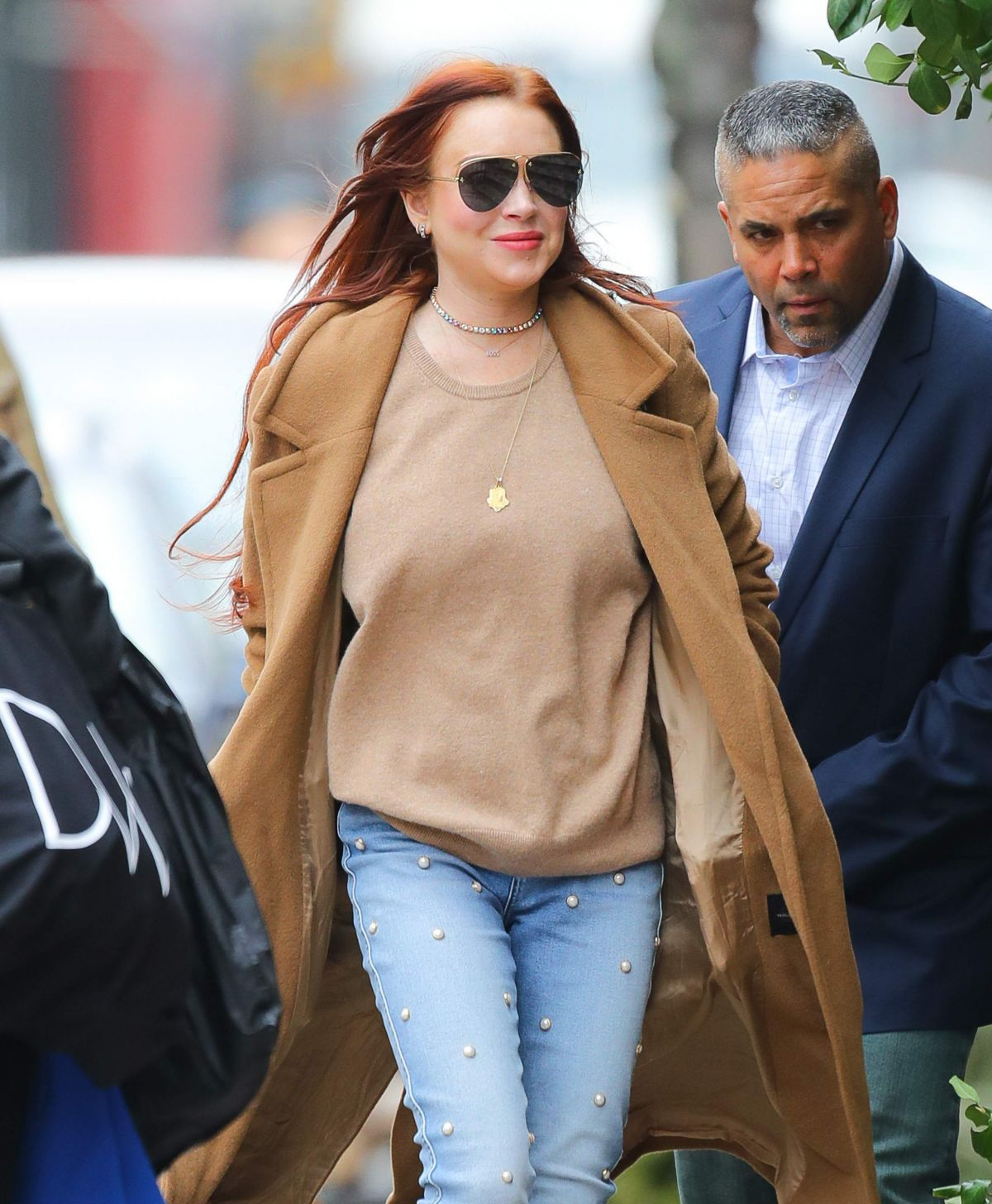 Flat In New York: LINDSAY LOHAN Leaves Her Apartment In New York 01/10/2019
