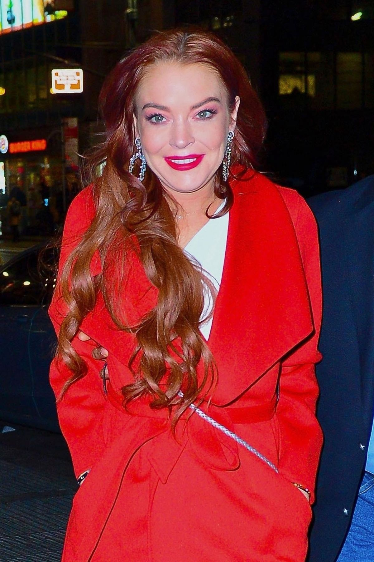 LINDSAY LOHAN Night Out in New York 01/07/2019 – HawtCelebs