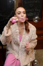 LINDSAY LOHAN on Backstage at Rachael Ray Show in New York 01/08/2019