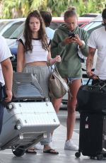 LOTTIE MOSS and ELLA ROSS at Airport in Cancun 01/15/2019