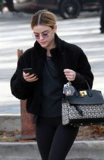 LUCY HALE Out for Ice Coffee in Studio City 01/11/2019