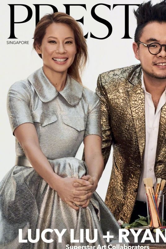 LUCY LIU and Ryan Su for Prestige Magazine, Singapore January 2019