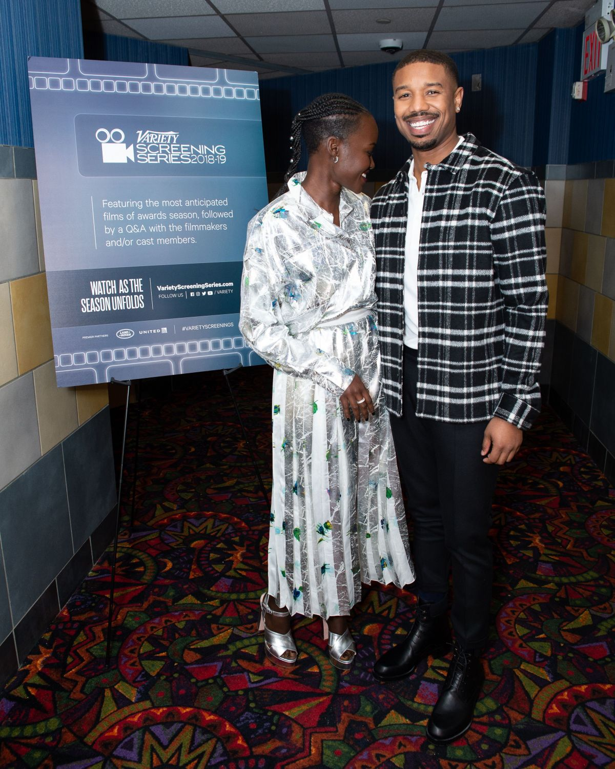 LUPITA NYONG'O and Michael B. Jordan at Black Panther Special Screening in New York 01/10/2019