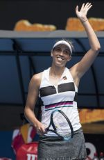 MADISON KEYS at 2019 Australian Open at Melbourne Park 01/15/2019