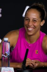 MADISON KEYS at 2019 Australian Open Press Conference in Melbourne 01/15/2019