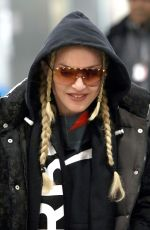 MADONNA Arrives at JFK Airport in New york 01/28/2019