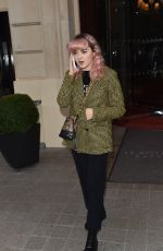 MAISIE WILLIAMS at Royal Monceau Hotel in Paris 01/20/2019