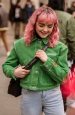 MAISIE WILLIAMS Out and About in Paris 01/15/2019