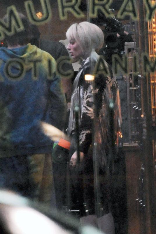 MARGOT ROBBIE on the Set of Birds of Prey in Los Angeles 01/29/2019
