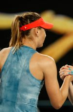 MARIA SHARAPOVA and CAROLINE WOZNIACKI at 2019 Australian Open at Melbourne Park 01/18/2019