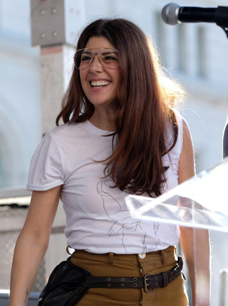 MARISA TOMEI at Women's March in Los Angeles 01/19/2019 ...