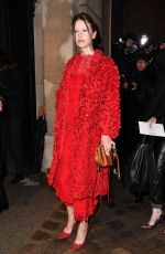 MIA GOTH at Valentino Fashion Show at PFW in Paris 01/23/2019
