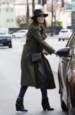 MICHELLE DOCKERY Leaves Sugar Fish in Beverly Hills 01/07/2019