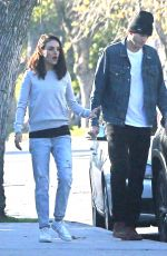 MILA KUNIS and Ashton Kutcher Out in Los Angeles 01/10/2019