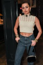 MILEY CYRUS at Miu Miu Shako Mako Release Party in Los Angeles 01/25/2019