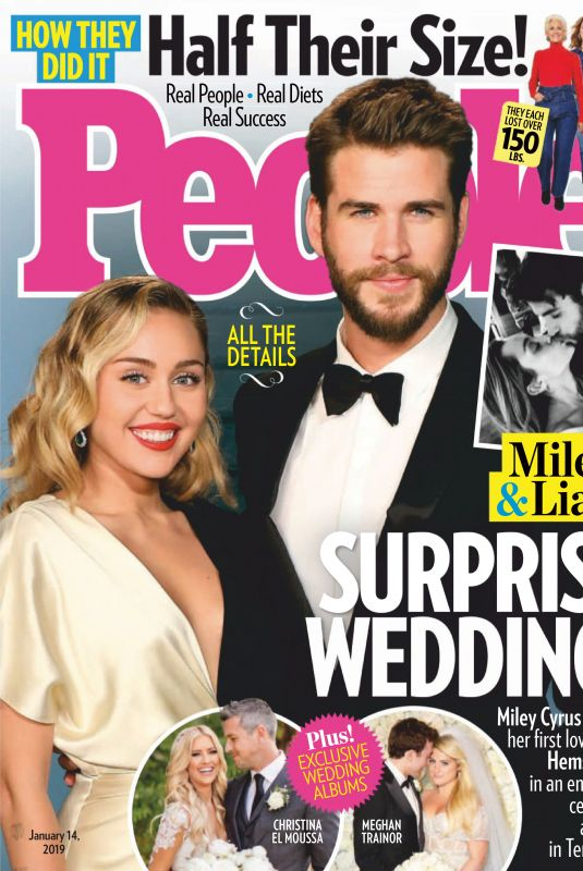 MILEY CYRUS in People Magazine, January 2019