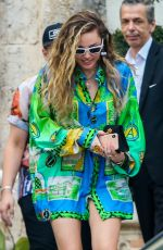 MILEY CYRUS Leaves Versace Mansion in Miami 01/09/2019