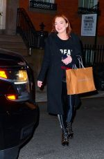 MINDSAY LOHAN Night Out in New York 01/11/2019
