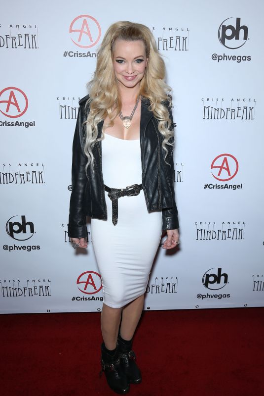 MINDY ROBINSON at Mindfreak Opening at Planet Hollywood in Las Vegas 01/19/2019