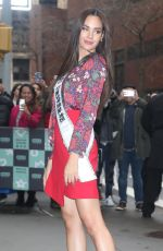Miss Universe 2018 CATRIONA GRAY Arrive at Build Series in New York 01/08/2019