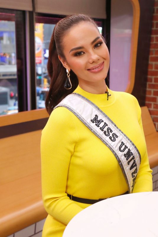 Miss Universe 2018 CATRIONA GRAY at Good Morning America in New York 01/07/2019