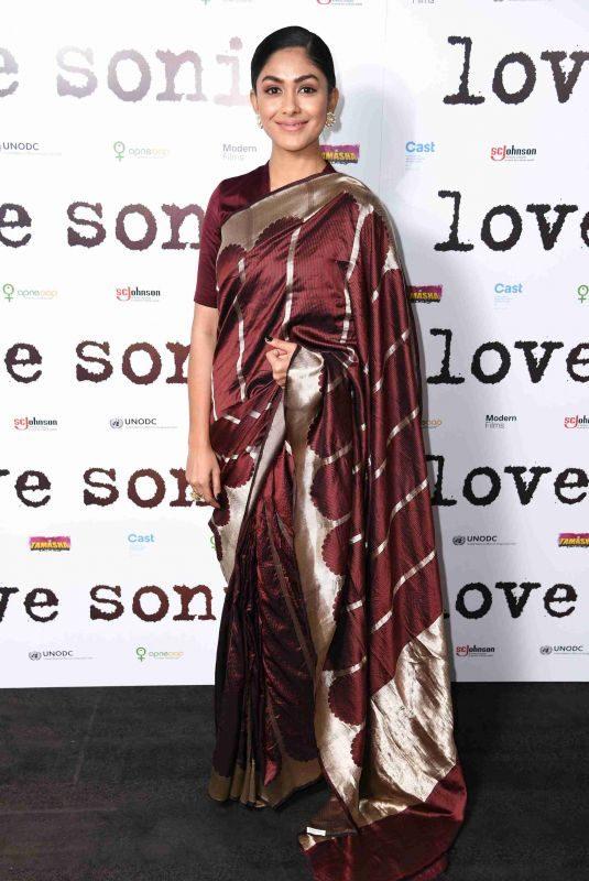 MRUNAL THAKUR at Love Sonia Premiere in London 01/23/2019