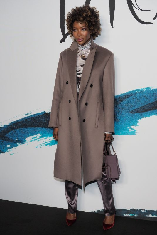 NAOMI CAMPBELL at Dior Homme Fashion Show at Paris Fashion Week 01/18/2019