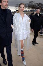 NATALIA VODIANOVA Arrives at Louis Vuitton Show at Paris Fashion Week 01/17/2019