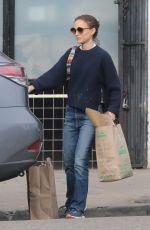 NATALIE PORTMAN in Denim Out Shopping in Los Feliz 01/28/2019