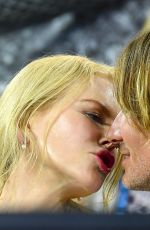 NICOLE KIDMAN and Keith Urban Kissing at Australia Open Tennis in Melbourne 01/24/2019