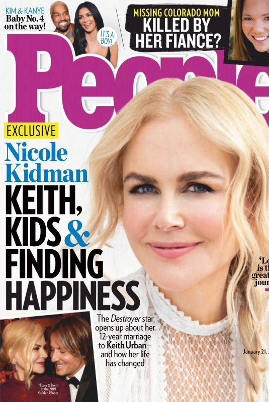 NICOLE KIDMAN in People Magazine, January 2019