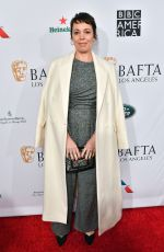 OLIVIA COLMAN at Bafta Tea Party in Los Angeles 01/05/2019