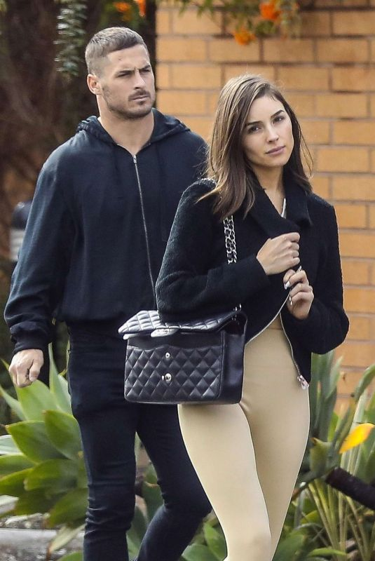 OLIVIA CULPO and Danny Amendola at Niko Niko Sushi in West Hollywood 01/13/2019