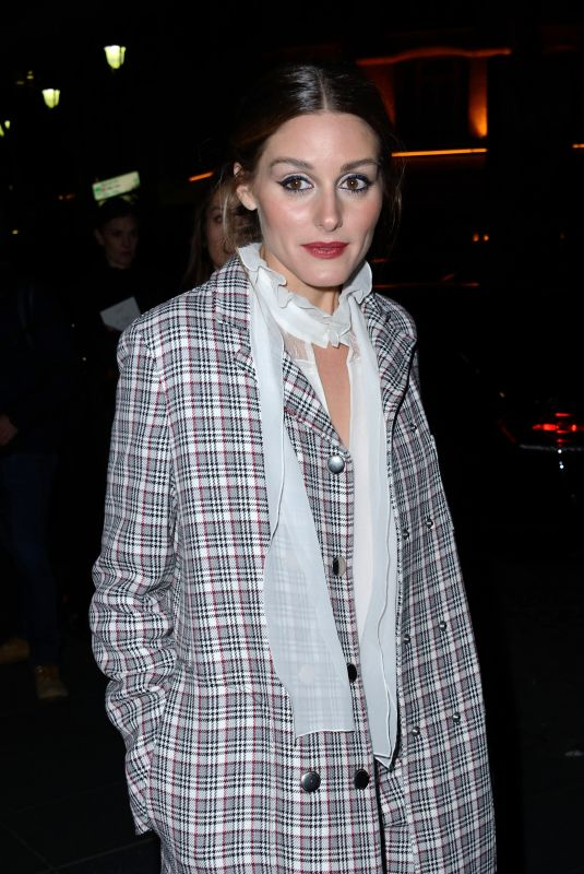 OLIVIA PALERMO at Giambattista Valli Fashion Show in Paris 01/21/2019