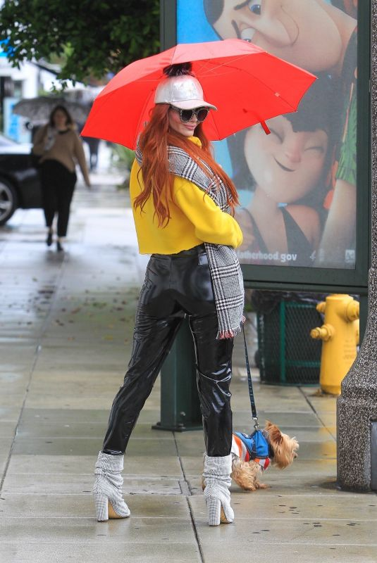 PHOEBE PRICE Out with Her Dog in Beverly Hills 01/17/2019