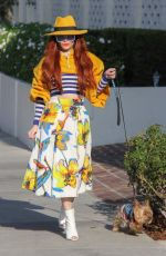 PHOEBE PRICE Out with Her Dog in Beverly Hills 01/30/2019