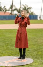 PIA TOSCANO at a Charity Softball Game to Benefit California Strong in Malibu 01/13/2019